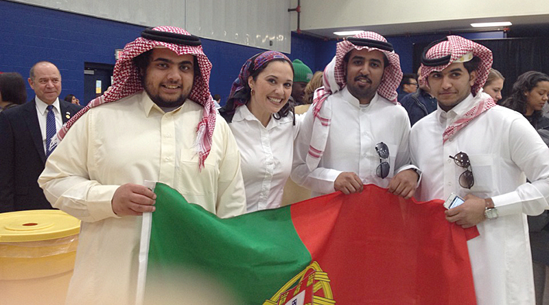 Jennifer Sousa Ramirez saudi students Portuguese flag